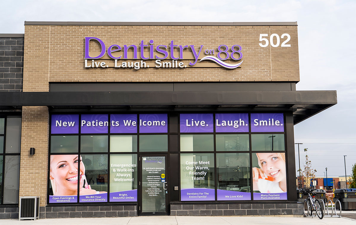 dentistry on 88 dentist bradford office front